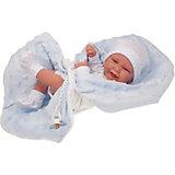 Кукла-младенец Munecas Antonio Juan Матео в голубом, 42 см