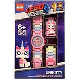 Часы наручные LEGO Movie 2 с минифигурой Unikitty