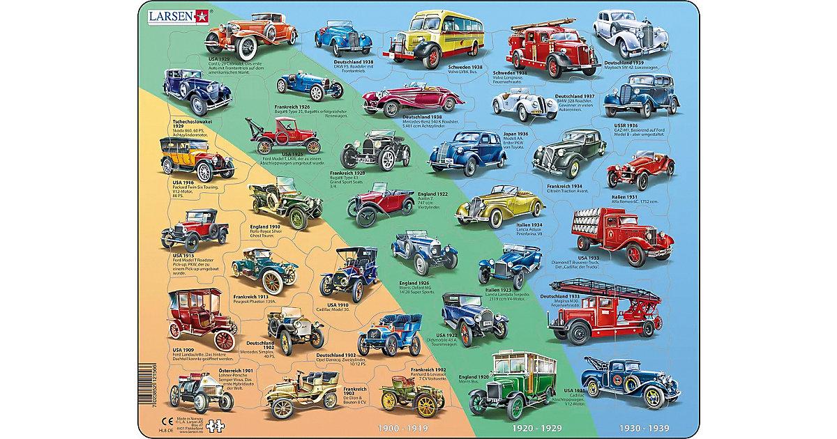 Rahmen-Puzzle, 42 Teile, 36x28 cm, Historische Autos