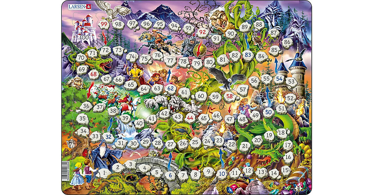 Rahmen-Puzzle & Brettspiel, 40 Teile, 36x28 cm, Leiter