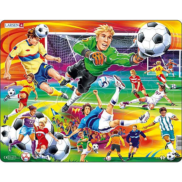 Rahmen Puzzle 65 Teile 36x28 Cm Fussball Larsen