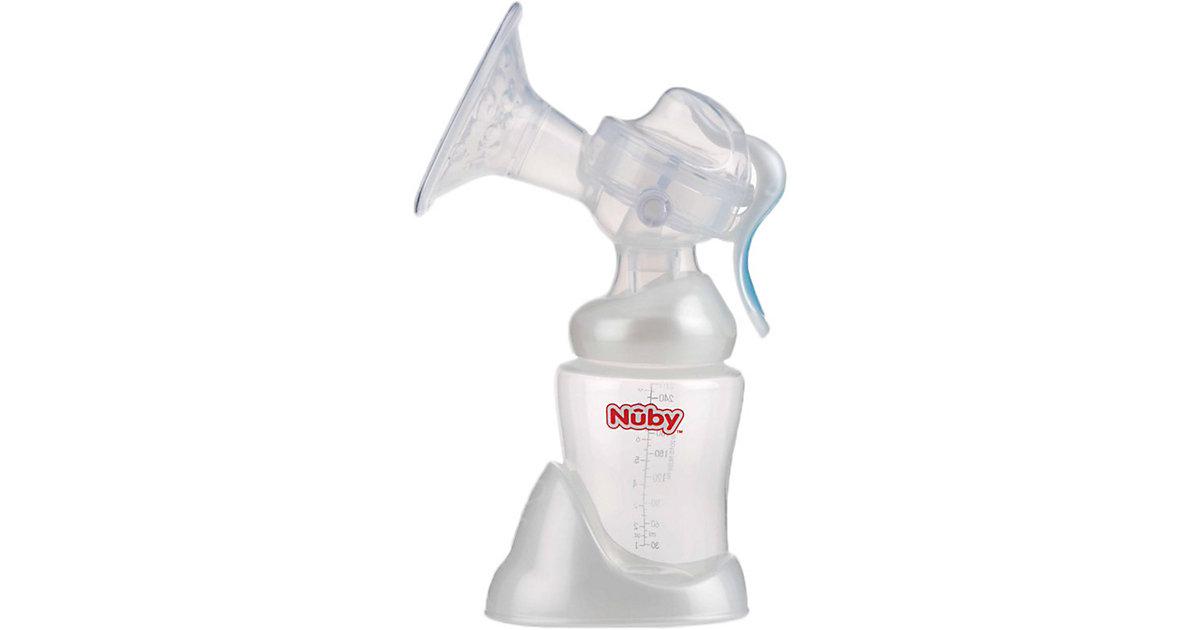 Nuby · Manuelle Milchpumpe mit 240 ml Weithalsflasche
