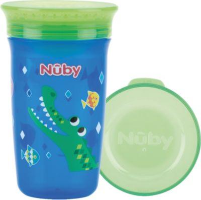 N/ûby Flip-It Becher mit Griffen Blau Gr/ün