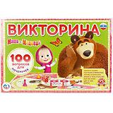 """Настольная игра """"Викторина 100 вопросов"""" Маша и Медведь"""