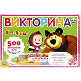 """Настольная игра """"Викторина 500 вопросов"""" Маша и Медведь"""