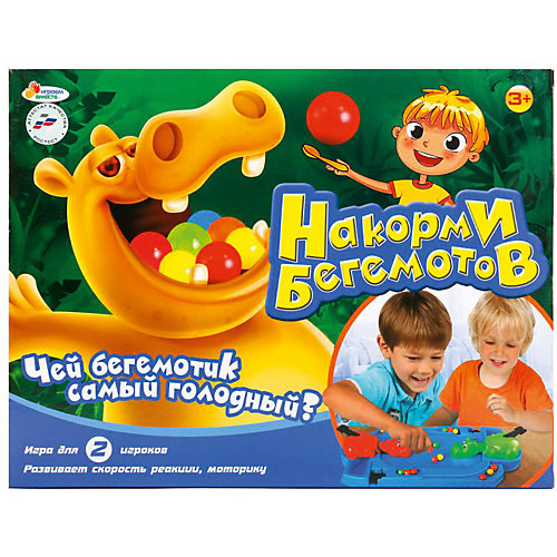 """Настольная игра """"Накорми бегемотов"""" от Играем вместе"""