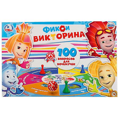 """Настольная игра """"Викторина 100 вопросов"""" Фиксики от Умка"""