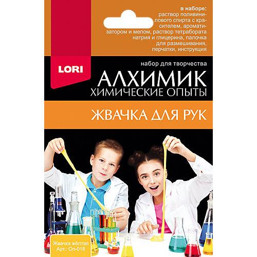"""Химические опыты Lori """"Алхимик"""" Жвачка для рук, жёлтая"""
