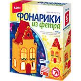 """Набор для творчества Lori """"Фонарики из фетра"""" Пряничный домик"""