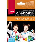 """Химические опыты Lori """"Алхимик"""" Жвачка для рук, голубая"""