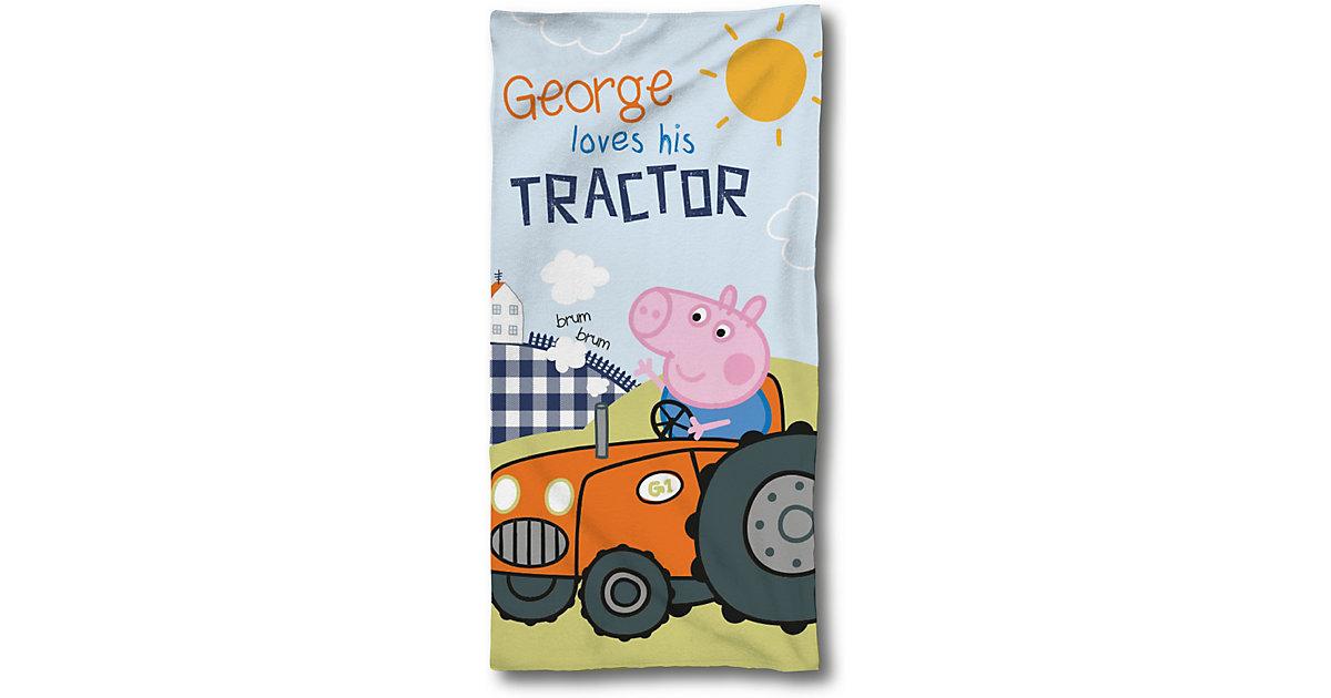 SkyBrands · Strand- und Badetuch Peppa Pig, Traktor, 75 x 150 cm