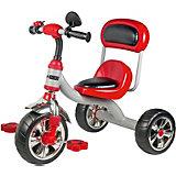 Трехколесный велосипед Maxiscoo с мягким сиденьем и спинкой, красный