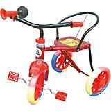 Трехколесный велосипед Наша игрушка Ёжик, красный