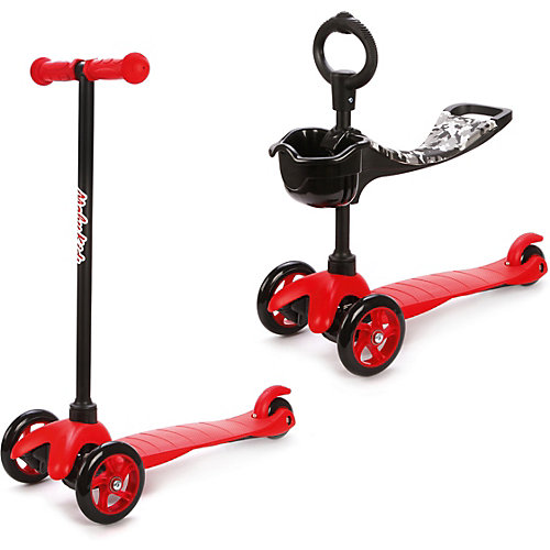 Трехколесный самокат Наша игрушка 2в1 Moby kids, красный от Moby Kids