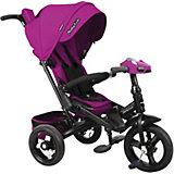 Трехколесный велосипед Moby Kids New Leader 360° 12x10 AIR Car, ягодно-пурпурный