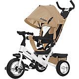 Трехколесный велосипед Moby Kids Comfort 10x8 EVA, бежевый