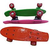 Скейтборд Наша Игрушка  со светящимися колесами, зеленый