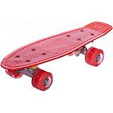 Скейтборд Наша Игрушка  со светящимися колесами, красный