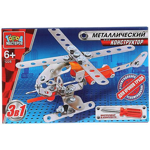 Конструктор Город Мастеров «3-в-1 Вертолет, самолет, ракета» от Город мастеров