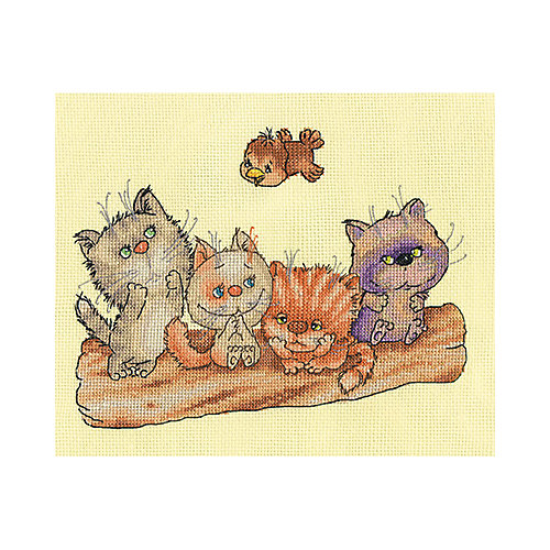 """Набор для вышивания Klart """"Котята на бревне"""" от Klart"""