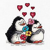 """Набор для вышивания Klart """"Влюбленные пингвины"""""""