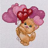 """Набор для вышивания Klart """"Котик с шариками"""""""