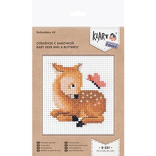 """Набор для вышивания Klart """"Оленёнок с бабочкой"""" от Klart"""