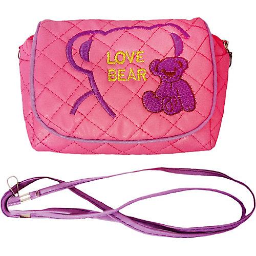 """Сумочка  Наша Игрушка """"Любимый мишка"""", темно-розовая от Наша Игрушка"""