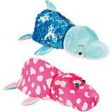 """Мягкая игрушка-вывернушка 1Toy """"Блеск с пайетками"""", Дельфин-Морж"""