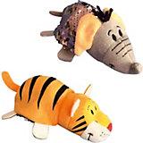 """Мягкая игрушка-вывернушка 1Toy """"Блеск с пайетками"""", Слон-Тигр"""