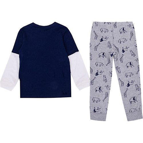 Комплект Carter's: лонгслив и брюки - сине-серый от carter`s