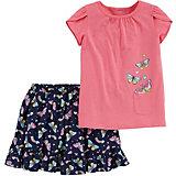 Комплект Carter's: футболка и юбка-шорты