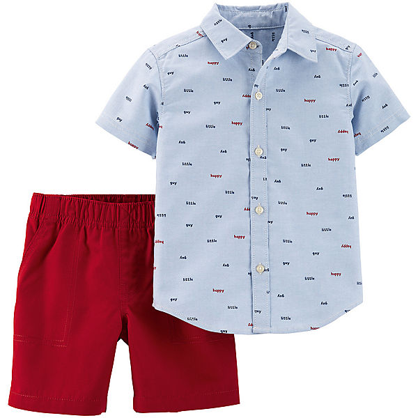 Комплект: рубашка и шорты carter's для мальчика