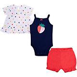 Комплект Carter's: футболка, боди и шорты