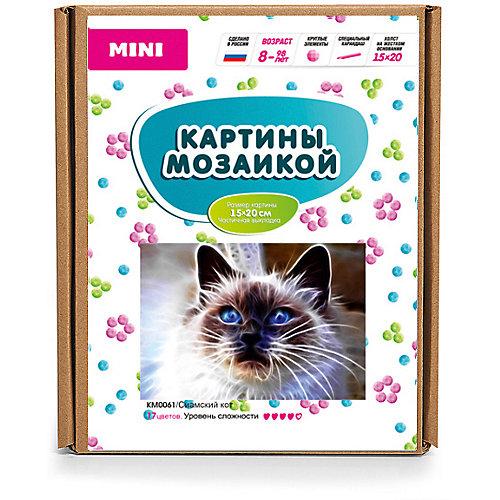 "Картина-открытка мозаикой Molly ""Сиамский кот"" от Molly"