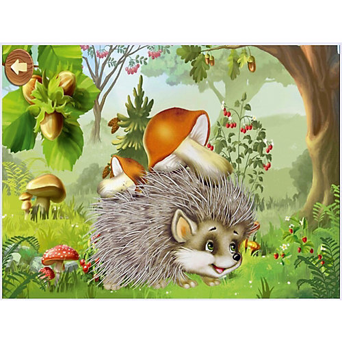 """Картина-открытка мозаикой Molly """"Ёжик с грибами"""" от Molly"""