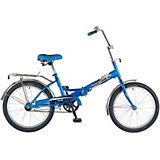 "Велосипед Novatrack FS30, 20"", синий"