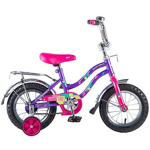Двухколесный велосипед Novatrack Tetris 12 дюймов, фиолетовый - фиолетовый от Novatrack
