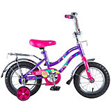 Двухколесный велосипед Novatrack Tetris 12 дюймов, фиолетовый