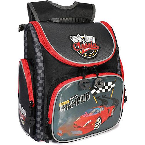 Рюкзак школьный Grizzly, черный - темно-серый от Grizzly