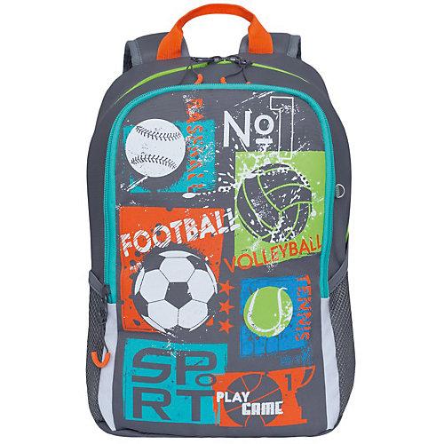 Рюкзак школьный Grizzly, серый от Grizzly