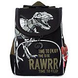 Рюкзак школьный с мешком Grizzly, черный