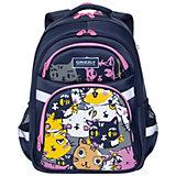 Рюкзак школьный Grizzly, коты цветные