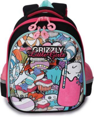 Рюкзак школьный Grizzly, черный