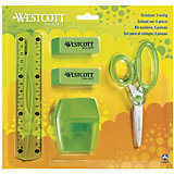 Канцелярский набор Westcott 5 предметов, зеленый