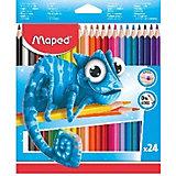 Набор пластиковых цветных карандаей Maped Pulse 24 цвета