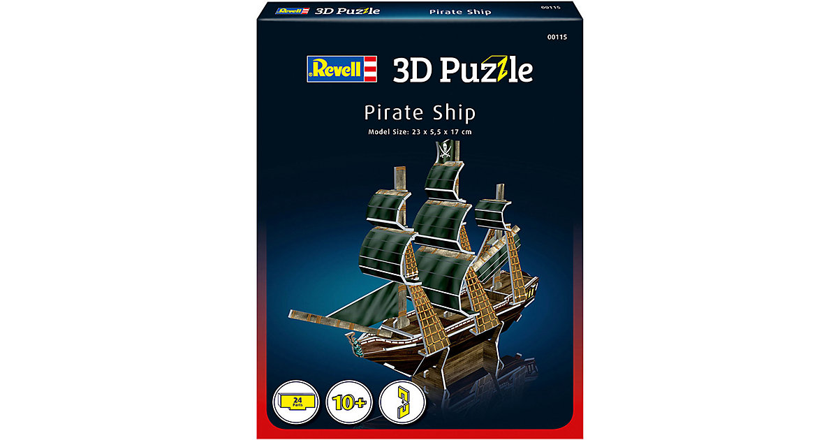 3D-Puzzle Piratenschiff, 24 Teile