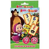 Карточки развивающие Умка «Маша и Медведь. Учим алфавит и цифры»