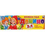 Домино 3 в 1 Умка «Времена года»