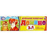 Домино 3 в 1 Умка «Домашние животные»